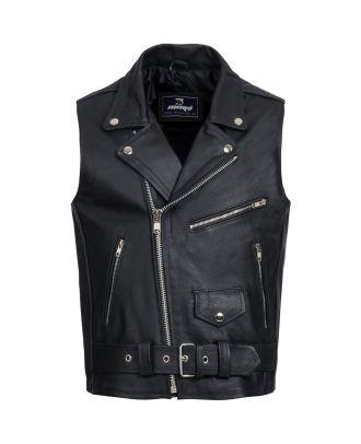 Mens Motorcycle Classic Brando Leather Vest