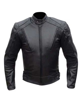 Mens Motorbike Motorcycle Leather Armour Jacket