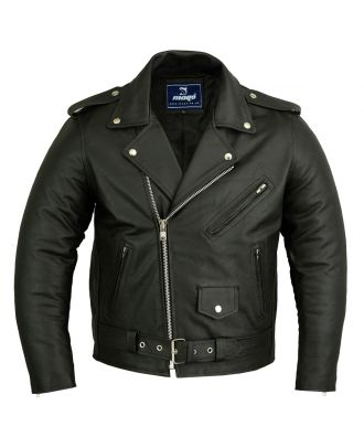 Mens Classic Motorcycle Perfecto Brando Leather Jacket
