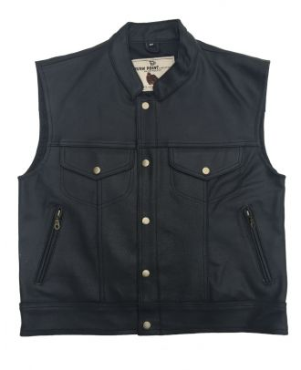 Mens Motorcycle Classic Son Of Anarchy Leather Vest